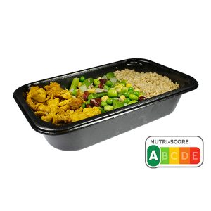 Kipreepjes curry en wellnessmix en quinoa